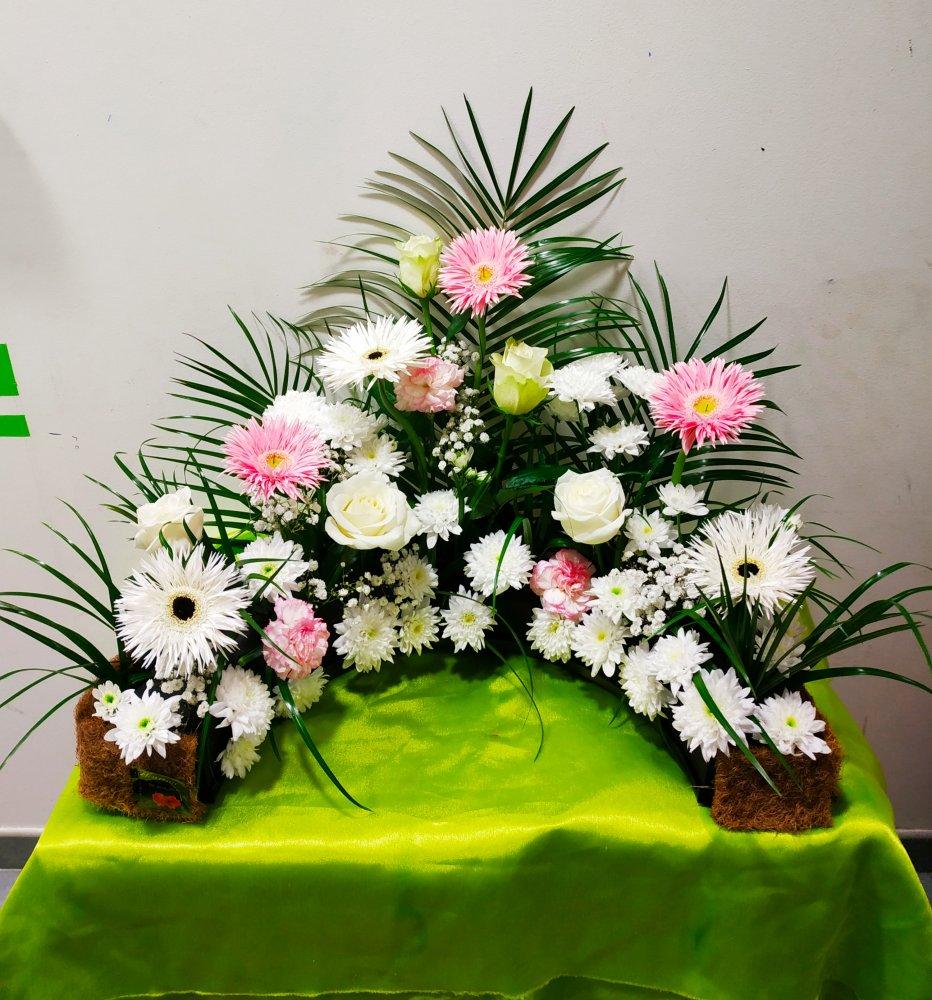 Composition florale décès à Sallanches