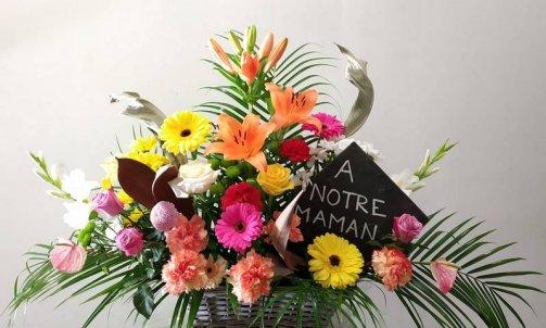 Composition florale pour deuil Sallanches