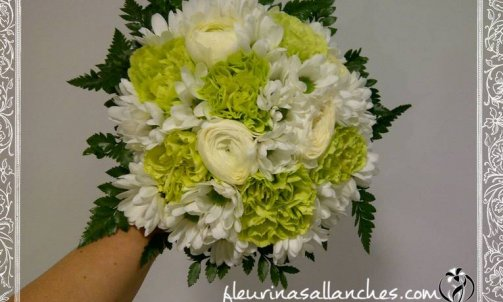 Bouquet de mariée à Sallanches