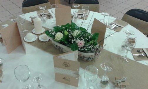 Centre de table pour mariage à sallanches