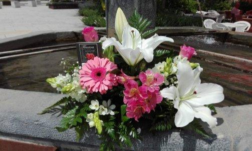 Composition florale pour deuil à Sallanches