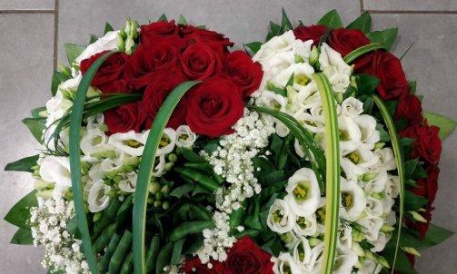 Création florale pour deuil à Sallanches