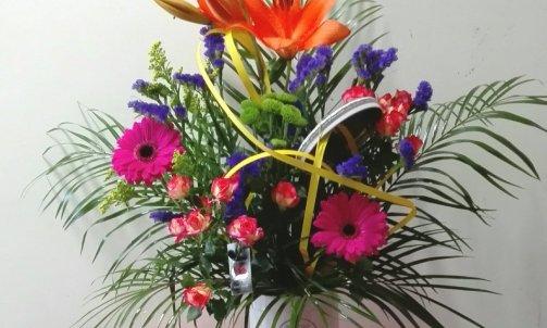 composition floral boite à gâteau
