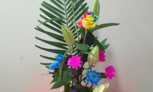 composition floral avec bouchon en liège