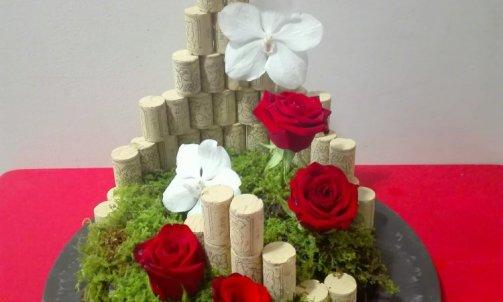 composition floral nature de liège